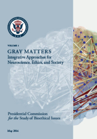 cover of booklet for neuroethics gray matters